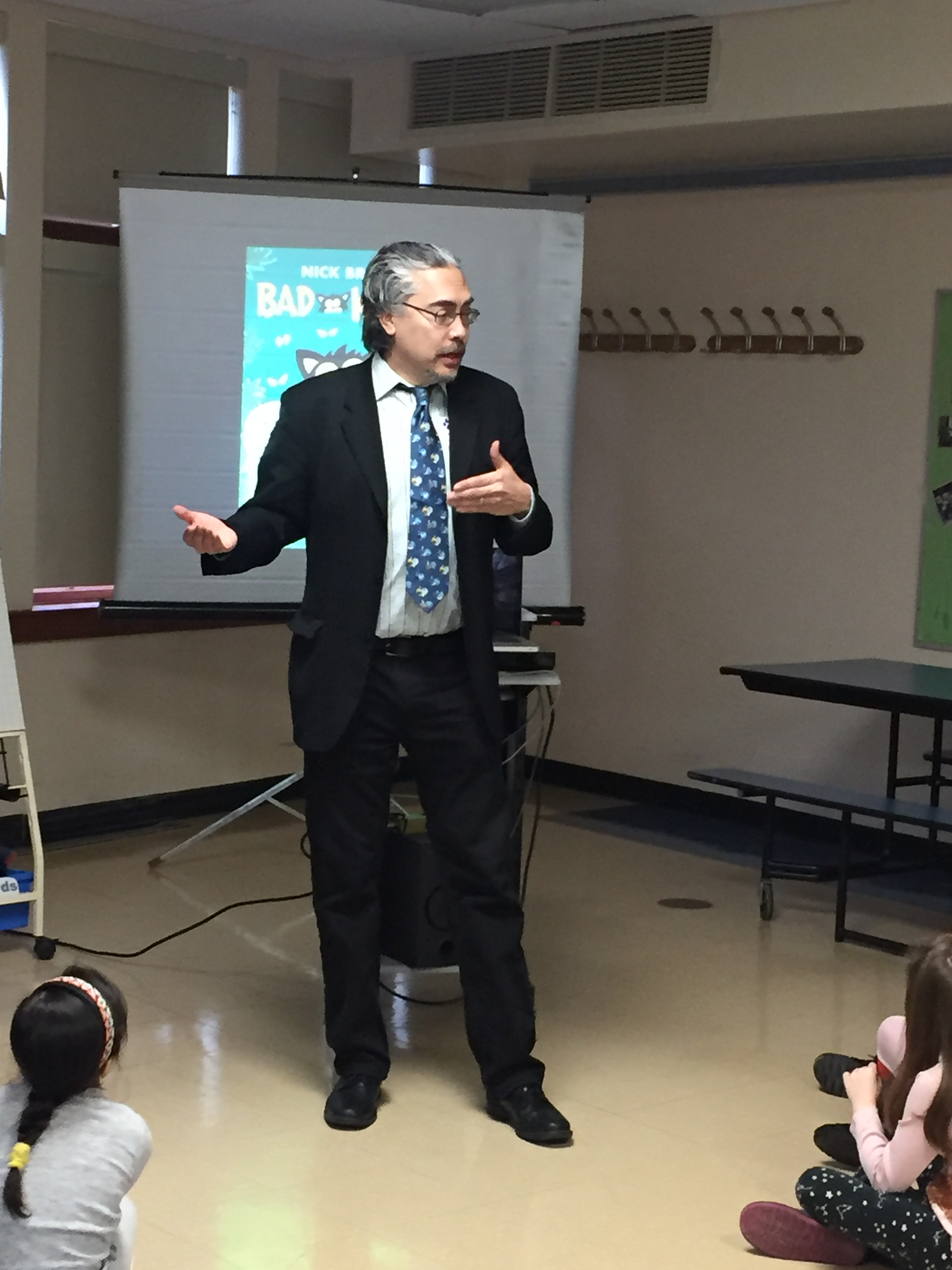 Nick Bruel Visits Seely Place